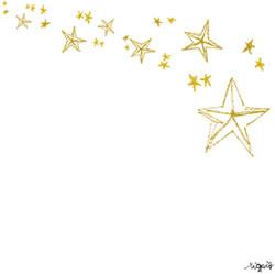 フリー素材:バナー広告のフレーム;大人可愛いレトロモダンな星いっぱいの流れ星みたなフレーム;250×250pix