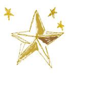星のイラストのフリー素材:壁紙,パターン;大人可愛いレトロモダンなデザインの星;200pix
