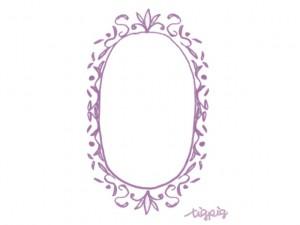 フリー素材:フレーム;シャーベットカラー(ピンク)のアンティーク風の楕円の飾り枠;640×480pix