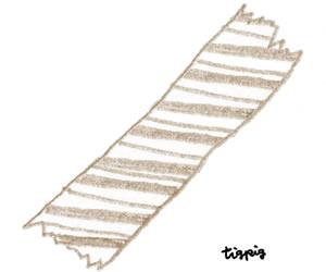 フリー素材:ガーリーイラスト;モカ茶色の大人可愛い色鉛筆画のストライプのマスキングテープ;300×250pix