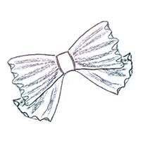 フリー素材:アイコン(twitter):北欧風デザインのモノトーンのストライプのリボン;200×200pix