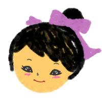 フリー素材:アイコン(twitter):ガーリーイラストのお団子が大人可愛い女の子;200×200pix