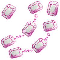 フリー素材:アイコン(twitter),背景;ピンクの鉛筆画の宝石のガーリーイラスト;200×200pix