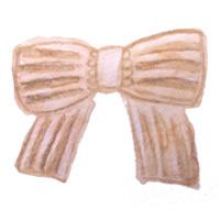 大人可愛い水彩のストライプのリボンのフリー素材:アイコン(twitter,facebook,ブログ可)200×200pix