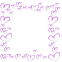 フリー素材:アイコン(twitter可);ピンクのハートいっぱいのフレーム;200pix