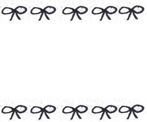 フリー素材:バナー広告;大人可愛いモノトーンのリボンの飾り枠の:300×250pix
