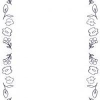 フリー素材:iphone,壁紙,待受;北欧風の大人可愛い花と葉っぱのフレーム;960×640pix