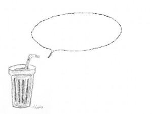 フリー素材フレームモノトーンの大人可愛いカフェ風ジュースコーヒー