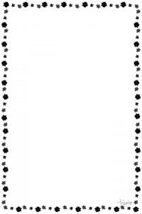 フリー素材:iphone4,壁紙,待受;モノトーンの大人可愛い小花のフレーム;960×640pix