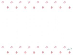 フリー素材:フレーム;さくらんぼみたいなピンク色の水彩色鉛筆のドット柄;640×480pix
