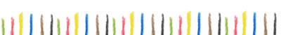 フリー素材:飾り罫;大人可愛いシンプルで大人可愛いカラフルな水彩色鉛筆のストライプの飾り枠のライン;400×50pix