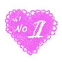 アイコン(twitter)のフリー素材:大人可愛いレースのハートの背景とno1の手書き文字;200×200pix