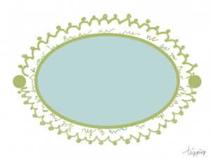 大人可愛いフリー素材:パステルグリーンのラベル;640×480pix