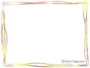 フリー素材:フレーム;大人可愛いスクラッチングのカラフルなラインのフレーム;640×480pix