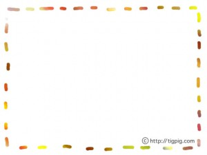 フリー素材:フレーム;大人可愛いスクラッチングのカラフルな破線のフレーム;640×480pix