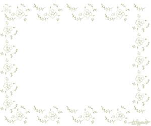 大人可愛いHP制作に使えるモスグリーンの小花いっぱいのフレーム