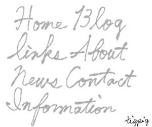 HP制作のナビゲーションメニューに使えるグレーの大人可愛いインク風手書き文字のフリー素材