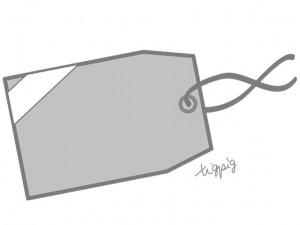 大人可愛いHP制作に使えるモノトーンのタグのフリー素材