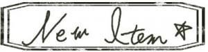 大人可愛いHP制作に使えるNew Itemの手書き文字のスタンプ風のラベルのフリー素材