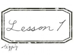 大人可愛いHP制作に使える手描き文字のLesson1とスタンプ風ラベルのフリー素材