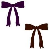 秋のHP制作の壁紙,テクスチャに使えるダークブラウンと紫の大人可愛いリボンのフリー素材