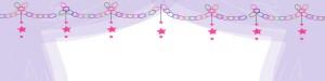 大人女子のHP制作に使える星と輪飾りのイラストのヘッダー用のフレーム:800×200pix