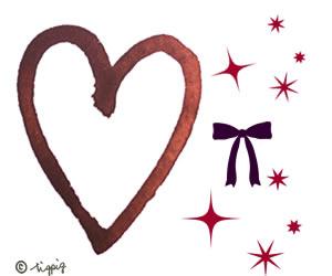 バレンタインのバナー制作に使えるハートとキラキラのフレーム