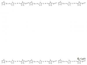手描きのシンプルなデザインが大人可愛い星とドットのフレーム:640×480pix