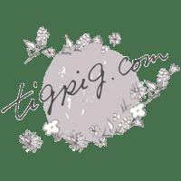 節分の鬼のかわいいイラストと北欧風の花いっぱいのブログヘッダー用フリー素材;800×200pix