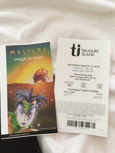 Cirque du Soleil Mystere review - tickets
