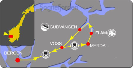 Flam railway map