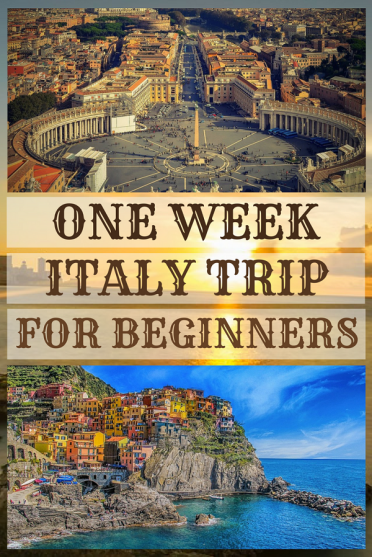 One week #Italy #Itinerary for beginners