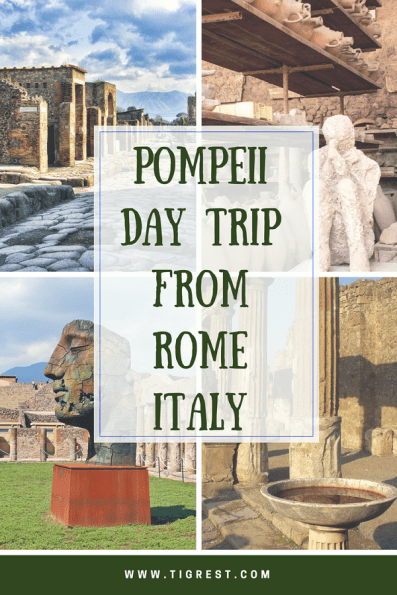 Pompeii day trip from Rome Italy