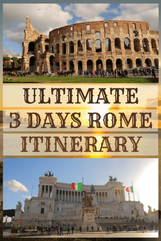 3 Days Rome Itinerary