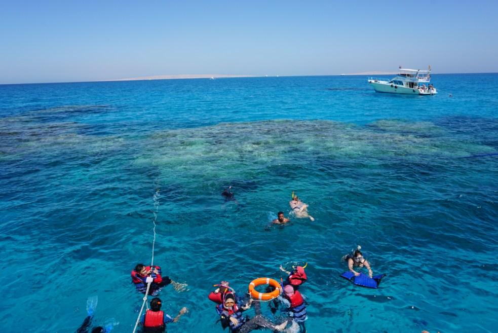 Hurghada snorkeling on the reef