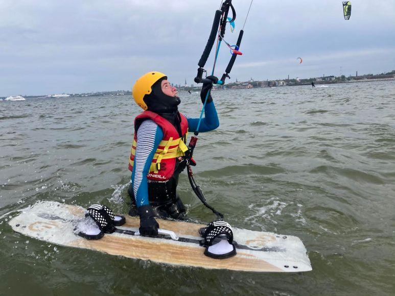 Water sports in Tallinn Estonia kitesurfing