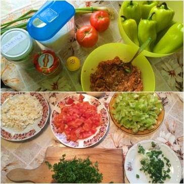 Ярки цветове. Харесва ми съчетанието на цветове, което често се получава в кухнята.