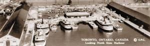 Ferries and dock circa 1950