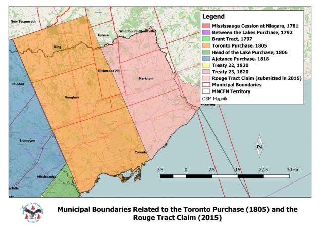Treaty boundaries from 1805 survey
