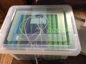 Build your own iPad charging cart out of office supplies