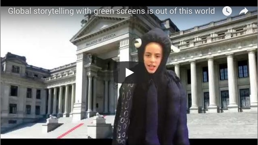 green screen storytelling VT students