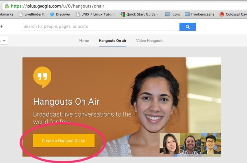 how to use google hangouts for screencasting