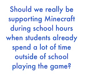 how teachers use minecraft