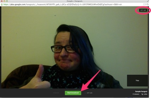 how to use Google Hangout for screencasting