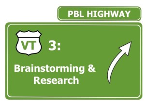 brainstorming and research in PBL