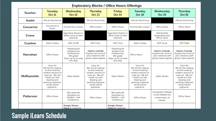 scheduling and student choice