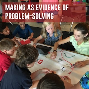 making as evidence of problem-solving