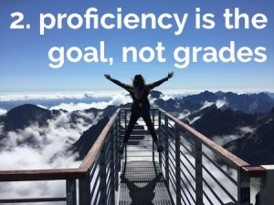 proficiency-based reporting: proficiency is the goal, not grades