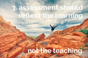 proficiency-based reporting: assessment should reflect the learning, not the teaching