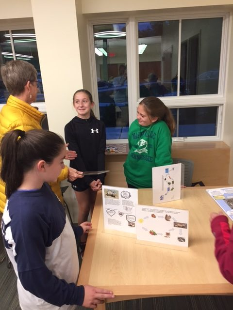 Teaming as a catalyst for change: Photo of students displaying projects.